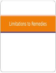 Limitations to Remedies.ppt