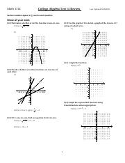 Math 1314 Test4 Review