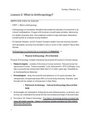 Lesson 2- What is Anthropology?  NOTES.docx