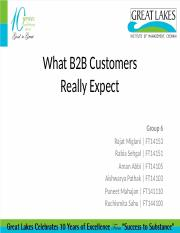 Group 6 - What B2B customers really expect