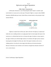 Unit 7  refraction and signal degradation in fiber_optic transmission