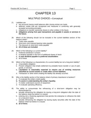 Chapter 13 Multiple Choice