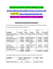 Financial Accounting and Analysis - NMIMS June 2018 Solved Assignments.docx
