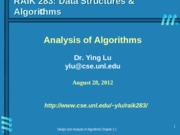Lecture topic-Algorithm-Analysis