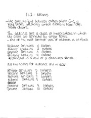 Notes on Alkanes and Carbon Bonds