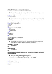 Recitation 9 Problems- Solutions