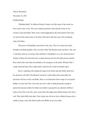 Holding Hands 2 Essay