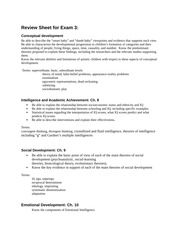 Review Sheet for Exam 3