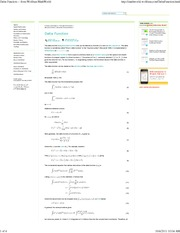 Delta Function -- from Wolfram MathWorld