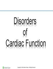 Disorder of cardiac function