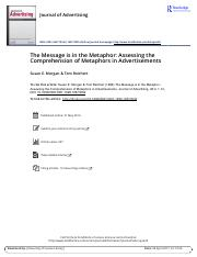 Morgan and Reichert - 1999 - The Message is in the Metaphor Assessing the Comp
