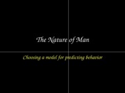 ACCY302 Nature of Man