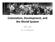 Colonialism Devt World System(1)