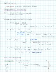 3.6 NOTES Rational Functions