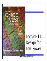 Lecture 11 design for low power