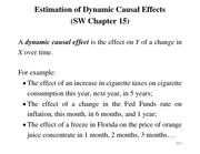 Chapter 15 - Estimating dynamic causal effects
