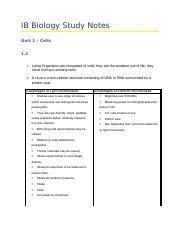 ib biology study guide pdf