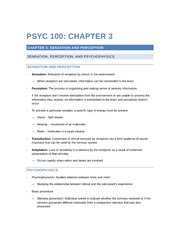 PSYC 100 - Chapter 3