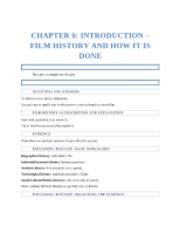 Chapter 0 - Introduction - Film History and How it is Done
