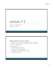 Lecture 7-1