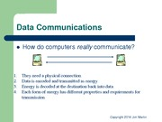 Lecture Notes on Data Communications