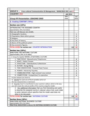 COUNTRY Presentation GRADING TEMPLATE Sheet1