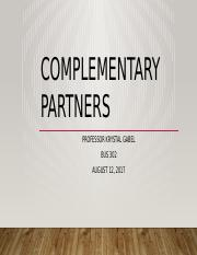 Assignment 2 Complementary Partners.pptx