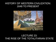 Totalitarianism Lecture Slides