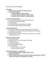 Notes Pharmacology 1 Toxicology