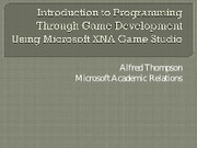 Programming Through Game Development