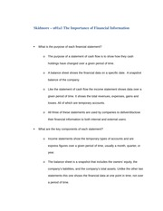 Skidmore - u01a1 Importance of Financial Information