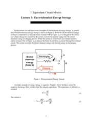 Electrochemical Energy Storage notes