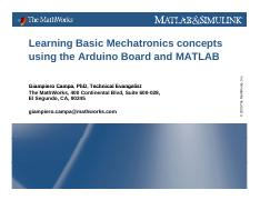 02 Learning Basic Mechatronics concepts using the Arduino Board and Matlab