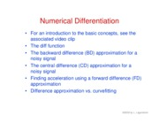 39. Numerical differentiation