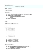 CHM 2045L General Chemistry 1 Lab, Experiment 1 Planning Homework