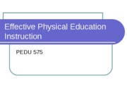 Effective Physical Education Instruction