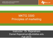 MKTING 3300  CHAPT 1 NOTES