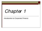 Chap1- Intro of Corporate Finance