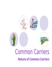 5 Common Carrier 1.ppt