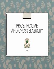 Chapter 7-8-9-10 - Price elasticity and Income Elasticiy - Applications