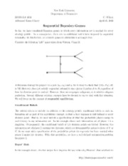 Sequential Bayesian Games notes