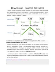 10.Android - Content Providers