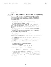 Math 55 - Fall 2001 - Poonen - Midterm Solutions