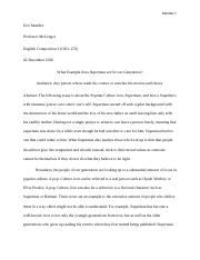 Superman essay final draft