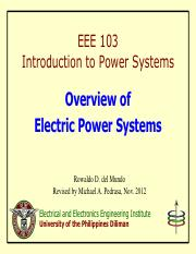 EEE 103 Lecture 1 - Overview