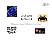 CSCI 1106 Movement and Collision Detection