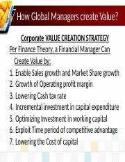 Lecture 1 Module C Value Creation and Goals