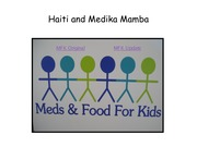6 Fall 2014 STS 323 Meds and Food for Kids Haiti
