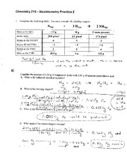 stoichiometry 2 worksheet solution chemistry 210 stoichiometry practice 2 1 complete the. Black Bedroom Furniture Sets. Home Design Ideas