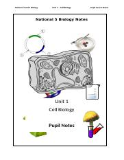 National 5 Biology - Cell Biology Notes.docx